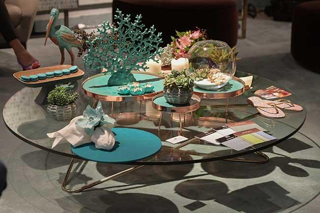 Mesa com doces de May Macarons e Kykah Doces (Foto Nilson Versatti)